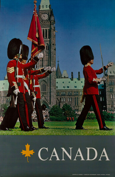Canada Travel Poster, Changing of the Guard Ottawa