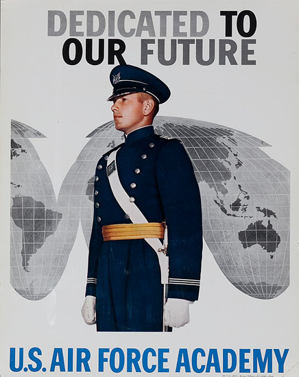 Dedicated to Our Future US Air Force Academy Recruiting Poster